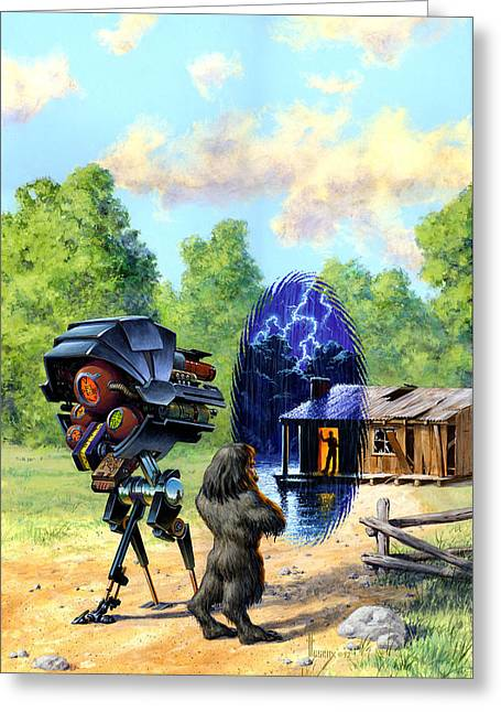 Time Window Greeting Card by Richard Hescox