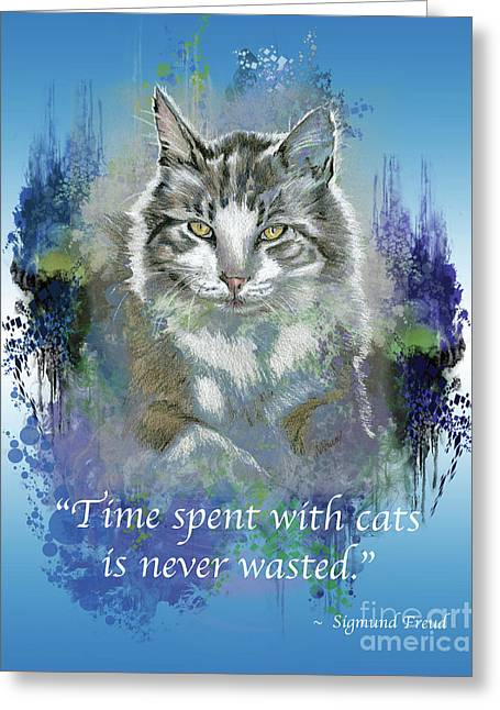 Time With Cats Greeting Card
