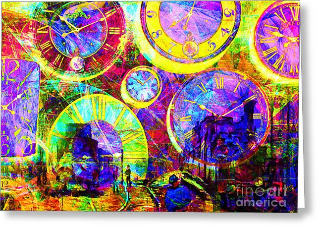 Timeless Art St Lazare Train Station Paris 20160228 Greeting Card by Wingsdomain Art and Photography