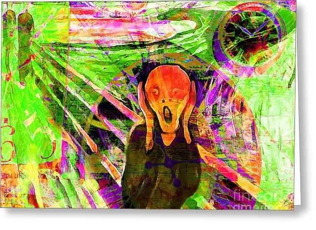Timeless Art The Scream 20160305 Horizontal Greeting Card