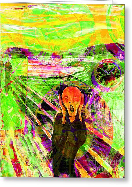 Timeless Art The Scream 20160305 Greeting Card by Wingsdomain Art and Photography
