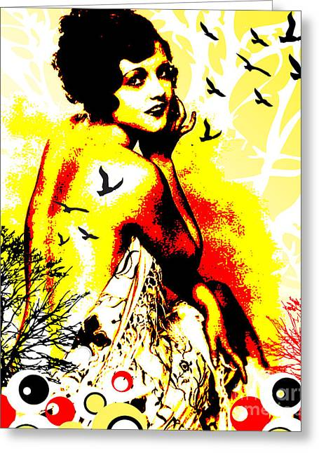 Figures Mixed Media Greeting Cards - Timeless Flight Greeting Card by Chris Andruskiewicz