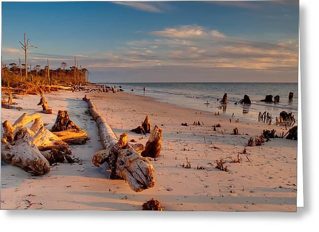 Timeless Florida Beach Greeting Card by Rich Leighton