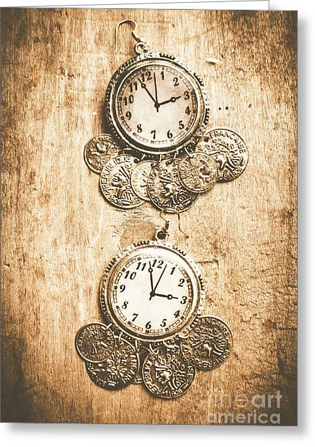 Timepieces From Bygone Fashion Greeting Card by Jorgo Photography - Wall Art Gallery