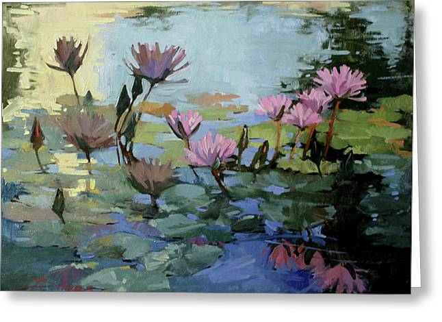Times Between - Water Lilies Greeting Card