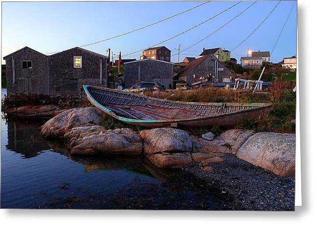 Peggy's Cove, Nova Scotia Greeting Card by Heather Vopni