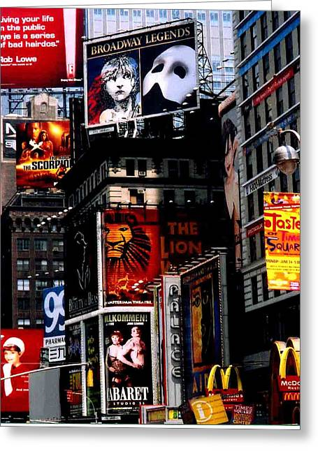 Times Sq Nyc Greeting Card