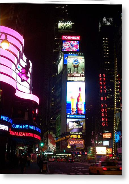 Times Square 1 Greeting Card by Anita Burgermeister