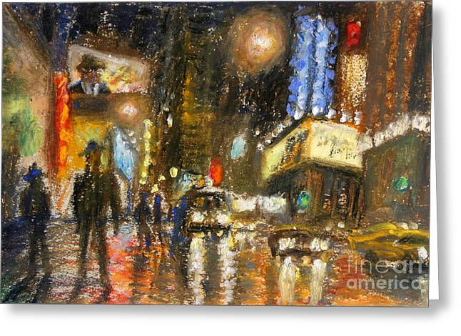 Times Square 2 Greeting Card by Arthur Robins