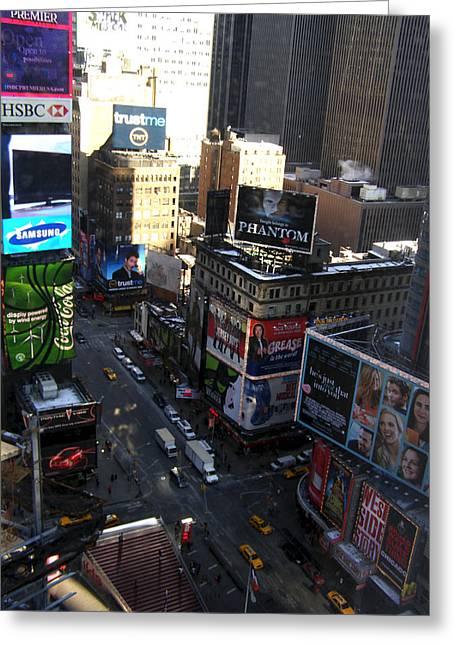 Times Square 2 Greeting Card by Christine Sullivan Cuozzo