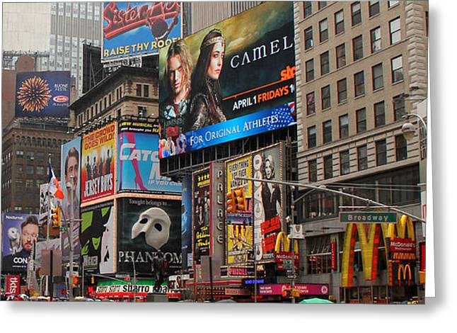Times Square 4 Greeting Card by Andrew Fare