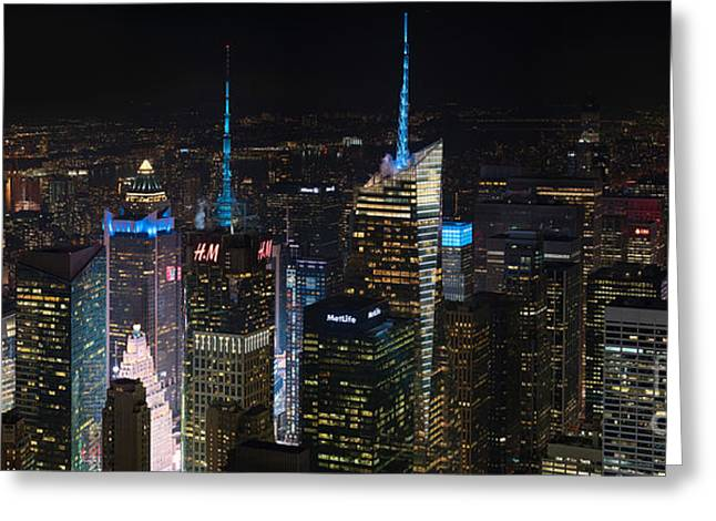 Times Square At Night From The Empire State Building Greeting Card
