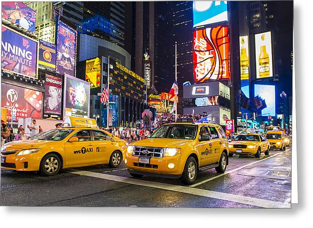 Times Square Greeting Card by Kobby Dagan