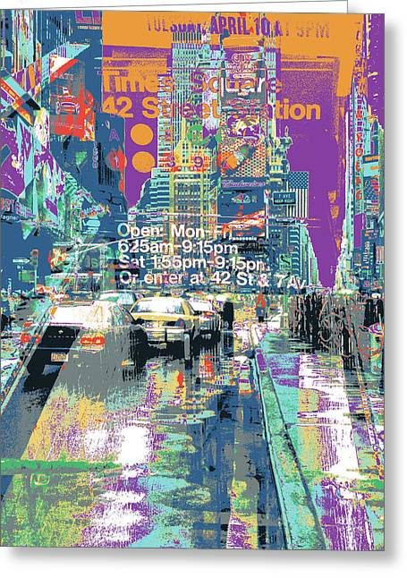 Times Square Morphine Greeting Card by Shay Culligan