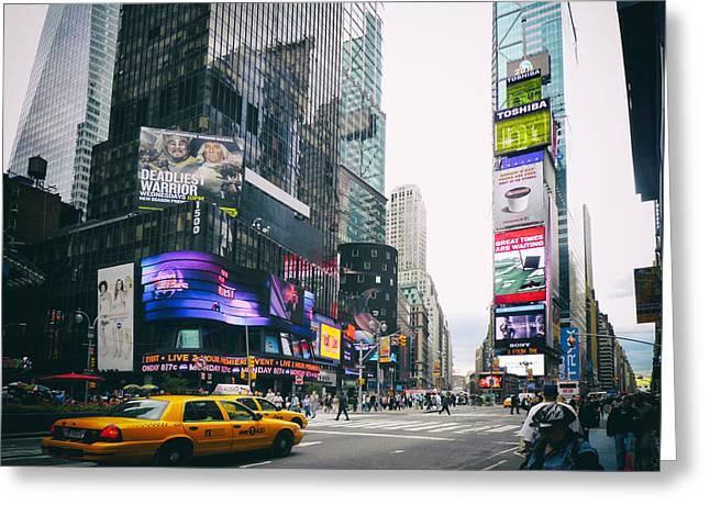 Times Square N Y C Greeting Card