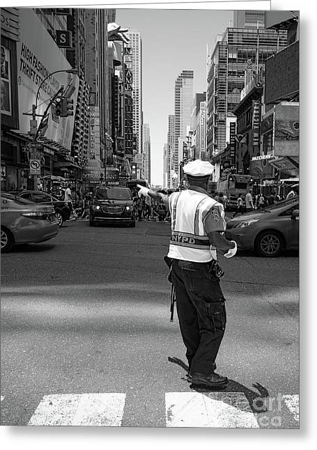 Times Square, New York City  -27854-bw Greeting Card