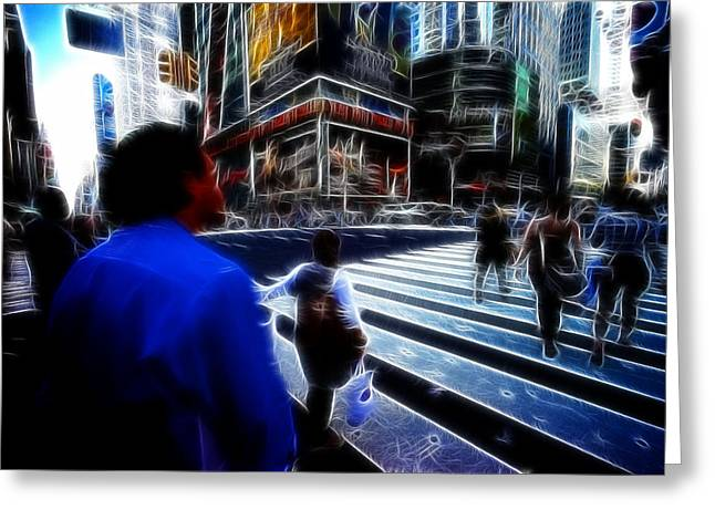 Times Square New York City Greeting Card by Lawrence Christopher