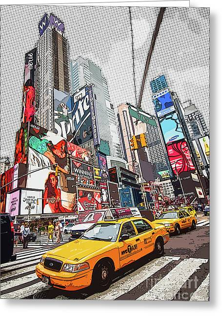 Times Square Pop Art Greeting Card