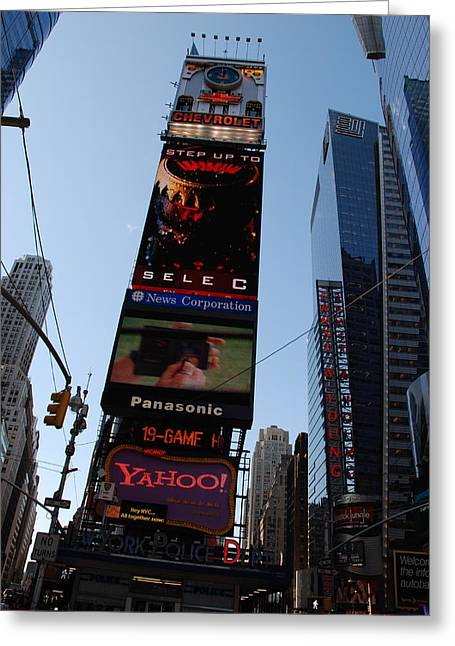Times Square Greeting Card by Rob Hans