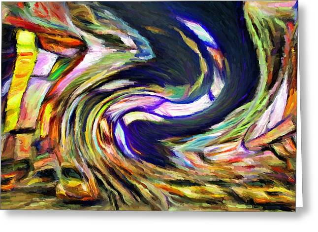 Times Square Swirl Greeting Card