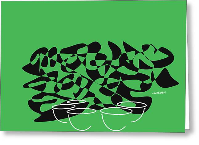 Timpani In Green Greeting Card