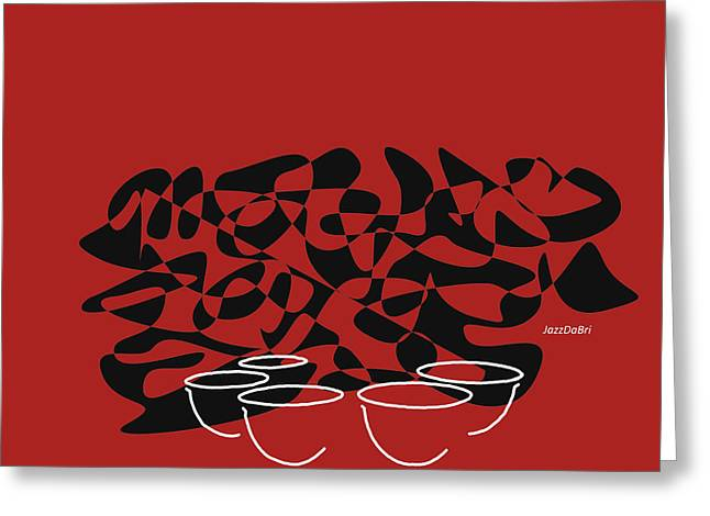 Timpani In Orange Red Greeting Card