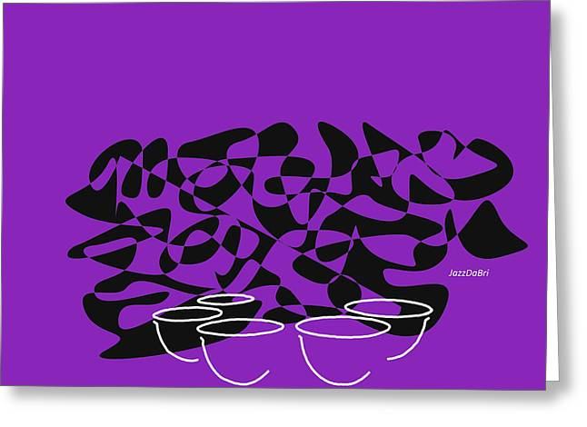 Timpani In Purple Greeting Card