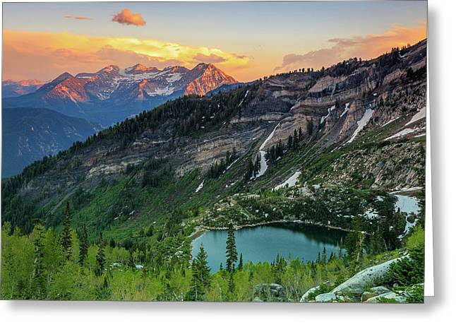 Timpanogos And Silver Lake. Greeting Card