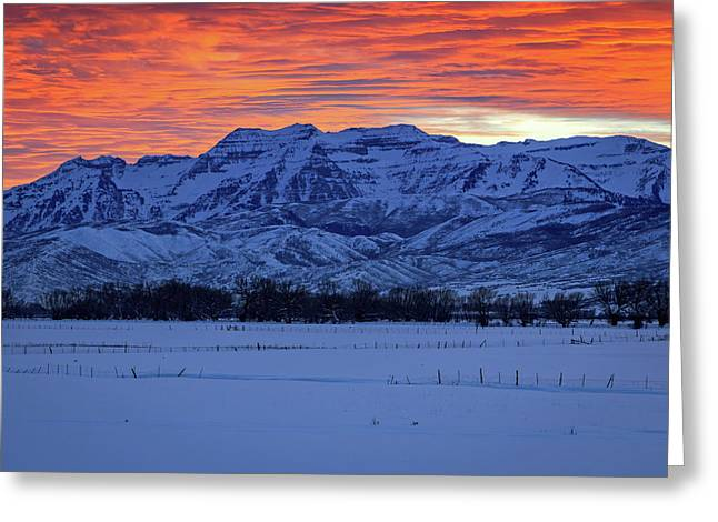 Timpanogos Burner Greeting Card by Johnny Adolphson