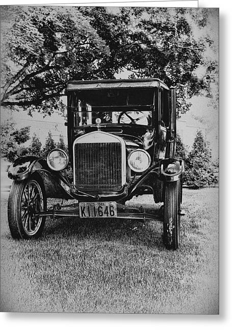 Touring Car Greeting Cards - Tin Lizzy - Ford Model T Greeting Card by Bill Cannon