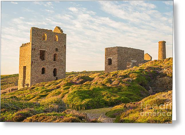 Tin Mine At St. Agnes, Cornwall, England Greeting Card