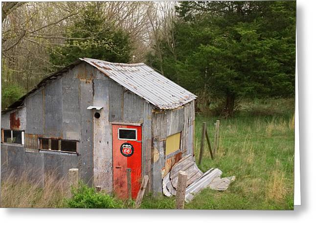 Tin Phillips 66 Shed Greeting Card by Grant Groberg