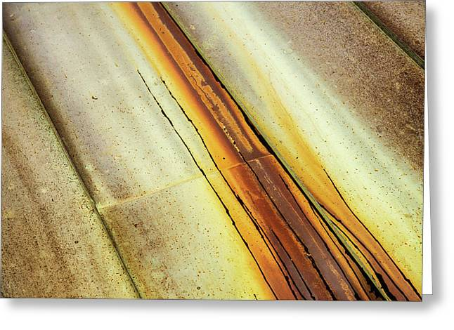 Tin Roof Abstract Greeting Card