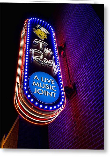 Tin Roof Beale Street Greeting Card by Stephen Stookey