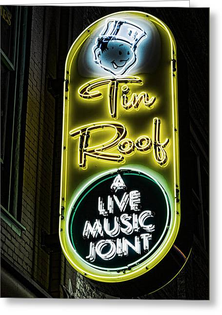 Tin Roof - Gritty Greeting Card by Stephen Stookey