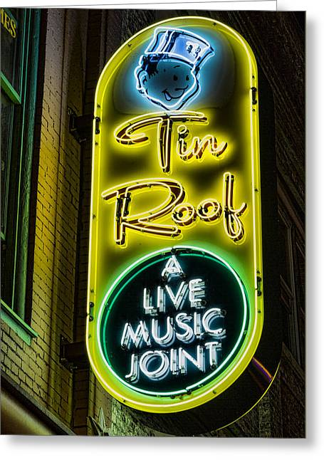 Tin Roof Greeting Card by Stephen Stookey