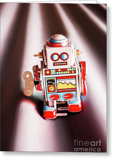Tin Toys From 1980 Greeting Card by Jorgo Photography - Wall Art Gallery