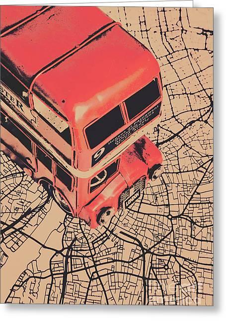 Tin Travel Tour Greeting Card