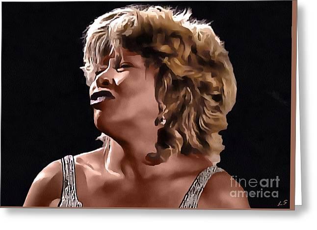 Tina Turner 001 Greeting Card by Sergey Lukashin