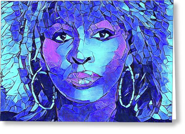 Tina Turner Abstract Portrait Greeting Card by Dan Sproul