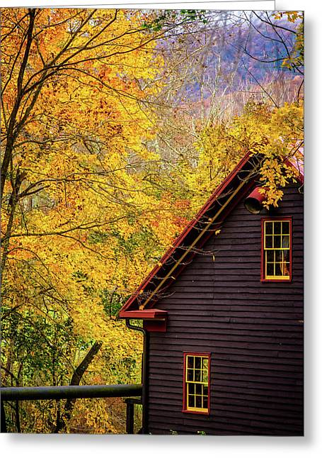 Tingler's Mill In Fall Greeting Card