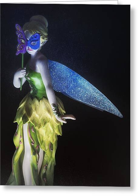 Tinker Bell Greeting Card by David Fuentes
