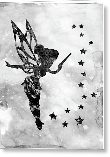 Tinker Bell-black  Greeting Card