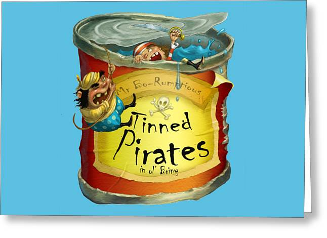 Tinned Pirates Greeting Card
