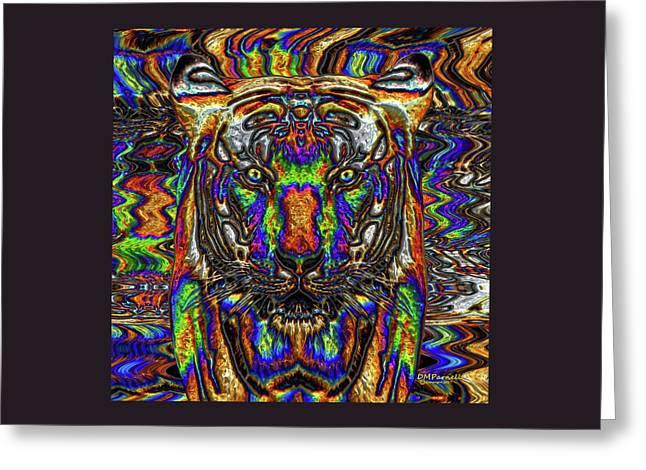 Tinsel Tiger Greeting Card