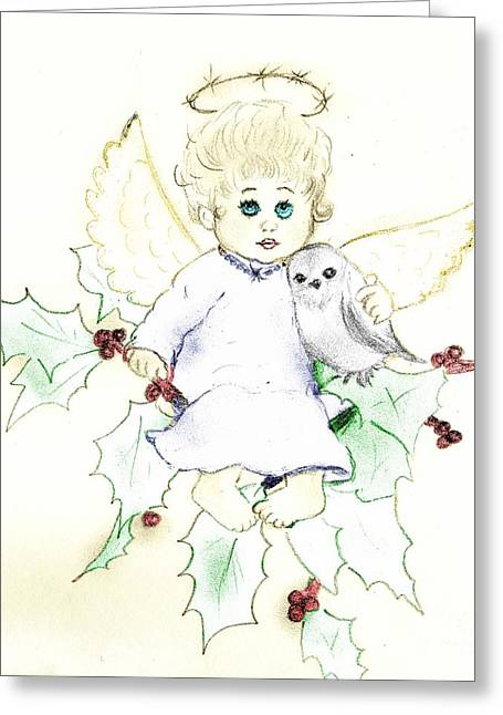 Tinted Little Angel Greeting Card