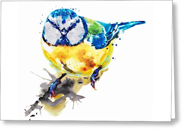 Tiny Colorful Bird Greeting Card by Marian Voicu