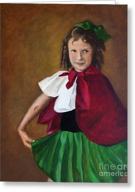 Tiny Dancer Greeting Card by Jill Van Iperen