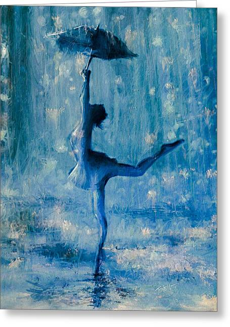 Tiny Dancer Greeting Card by Mark Tonelli