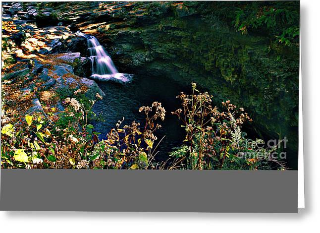 Greeting Card featuring the photograph Water Falls by Raymond Earley